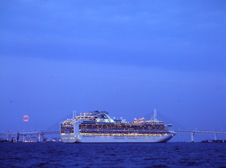 客船の出航