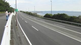 湘南国際マラソン後の道路
